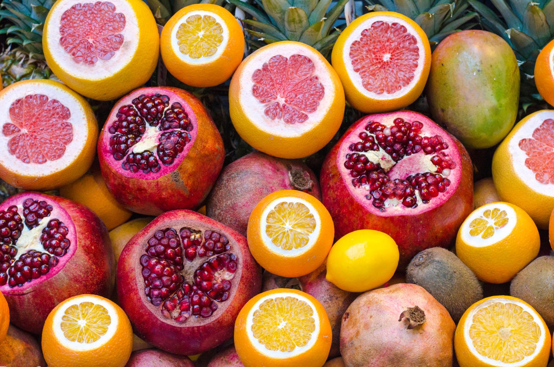 250 gram groente en 2 stuks fruit